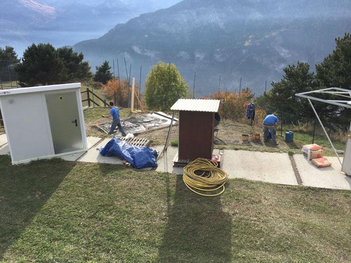 Nuovo osservatorio - in fase di gettata